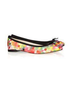 Repetto BB printed canvas ballet flats