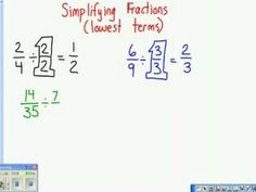 Simplifying Fractions - Glad I found this, he is doing it in class now