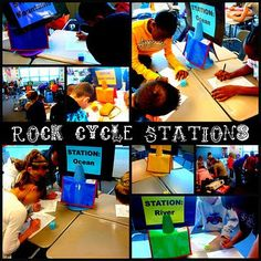 rock cycle stations