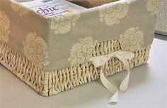 Basket liners.  Tutorial by Sew 4 Home.