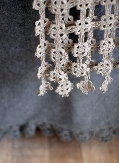 scarf and blanket  Linen and wool.
