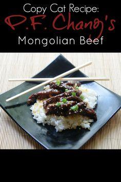PF Changs Mongolian Beef Copycat Recipe