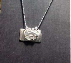 Kansas State University Wildcat Sterling Silver Necklace