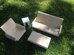 UNPAINTED Full Sofa Chair and coffee table & by QueenEmmaDesigns, $75.00