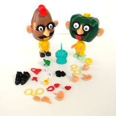 I did not know there was a PEPPER? Vintage Hasbro Pete the Pepper and Mr. Potato Head 1960's Toys