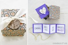 """DIY """"Will You Be My Bridesmaid?"""" Gift Box + Free Printable"""