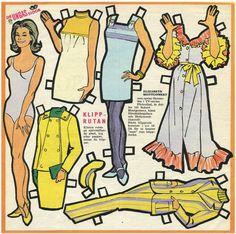 Vintage looking Elizabeth Montgomery Paper Dolls