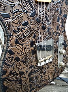 Capsule Music  62 Muertos Negra  crazy guitar these would totally match the boots I need