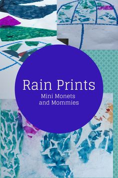 Mini Monets and Mommies: Rainy Day Play: Make a Tissue Paper Print
