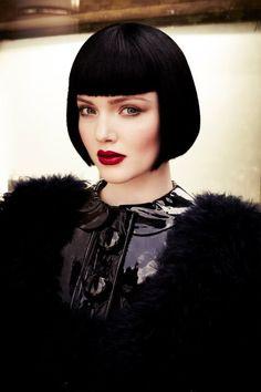 . future fashion, mermaid hair, holiday photos, black hair, style hair, red lips, funny girls, matt holyoak, bob haircuts