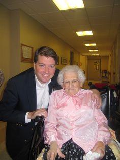 My Grandmother - Mud - on her 100th Birthday.
