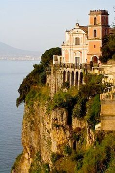 Cliff-top church - Amalfi Coast