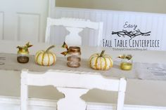 Easy Fall table centerpiece |TodaysCreativeBlog.net