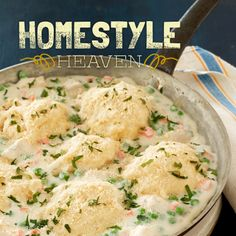 Chicken and Dumplings. Let's just contemplate that for a moment. Mmm. Talk about the definition of American comfort food. #recipe #americanfood #entertaining