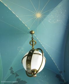 Gorgeous groin ceiling with the perfect light fixture. Designed by Miles Redd and photographed by Francesco Lagnese..
