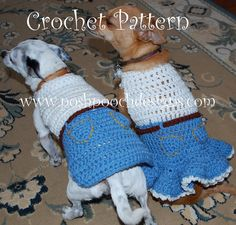 Instant Download Crochet Pattern  Dog Sweater  by poshpoochdesigns, $4.99