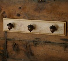 Acorn Towel Rack - Rustic Home Decor - Farmhouse Kitchen Decor - Cabin Decor via Etsy