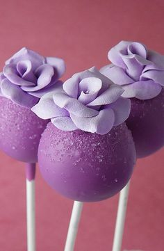 Purple cake pops- Simple and sweet!