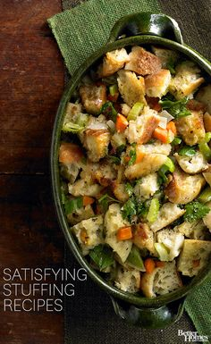 Is there a better side dish at your holiday table than a scrumptious stuffing? Here are some of our favorite recipes: http://www.bhg.com/thanksgiving/recipes/roast-turkey-stuffings/?socsrc=bhgpin111813stuffingrecipes