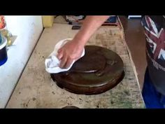 How-to Antique Concrete Stepping Stones and Cast Cement Products with Stain