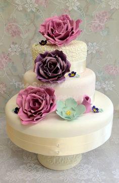 White Camellia Cake