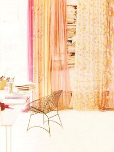 Tips for Decorating Your Dorm: Get crafty with curtains to maximize your closet space or give yourself a little privacy
