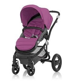 Affinity Stroller by Britax - Black base frame with Cool Berry color pack - Britax USA