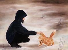 Girl and a Cat By Anastasiya Malakhova