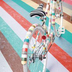 washi tape covered bike!
