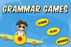 """Grammar Games by Tap To Learn  ($0.99) Grammar Games features learning grammar in the most intuitive manner possible for children as well as adults of all ages.  ✔ Learn and practice """"Parts of Speech"""" by playing fun games.  ✔ Two games included: Flight Take Off and Flight Landing. ‣ Identify Parts of Speech  ‣ Nouns  ‣ Verbs  ‣ Adjectives  ‣ Adverbs  ‣ Pronouns  ‣ Prepositions  ‣ Interjections  ‣ Conjunctions"""