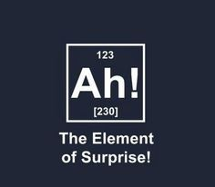 The element of surprise..