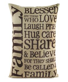 'Family Blessed' Throw Pillow