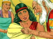 Free Bible illustrations at Free Bible images of a son, Ishmael born to Abram (Abraham) by Hagar. (Genesis 16)