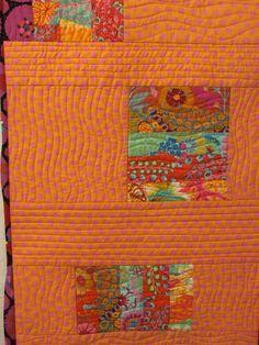 patchwork, inspir, wavi quilt, quilt idea, orang quilt