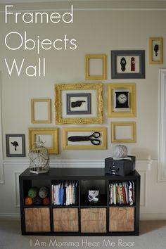 Framed Object Wall idea