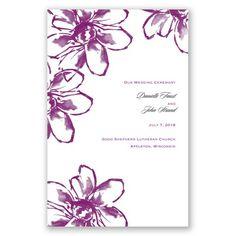 Plumeria Fantasy - Wedding Program #WeddingProgram #DavidsBridal #SummerWedding