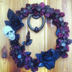 Dollar store Halloween wreath. Homemade