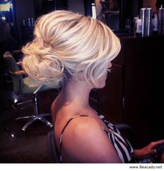 Cute updo for blonde hair - BeaLady.net