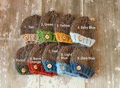 Newborn Knit Hat Baby Boy Beanie Hat by glamourandglitzbaby, $25.00