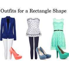outfits for a rectangle shape