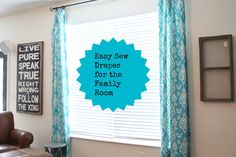 Can you sew a simple, straight line? I can't, but I made some drapes anyway!