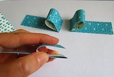 How to make paper bows - like ribbons - from OWH Stars and Stamps
