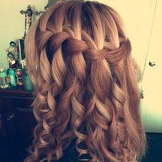 Braid with curly hair