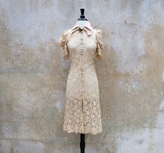 Ivory lace dress, from the 1930's.