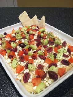 Mediterranean Hummus Layer Dip