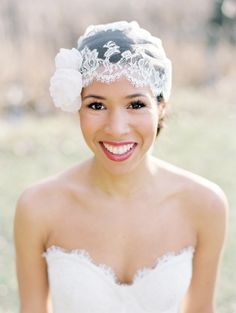 Statement headpiece by Christie Graham Photography-via Wedding Sparrow http://weddingsparrow.com
