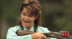 Sarah Palin Shooting a Gun;