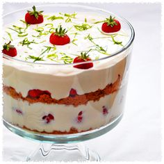 Strawberry and Lime Margarita Cheesecake Trifle