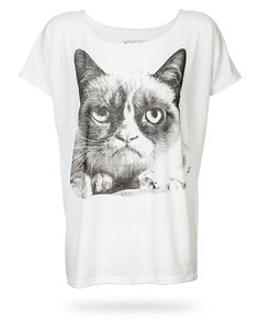 Grumpy Cat Relaxed Fit Ladies Tee