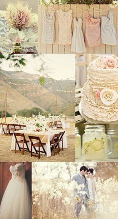 rustic romantic wedding colors. Blush & grey